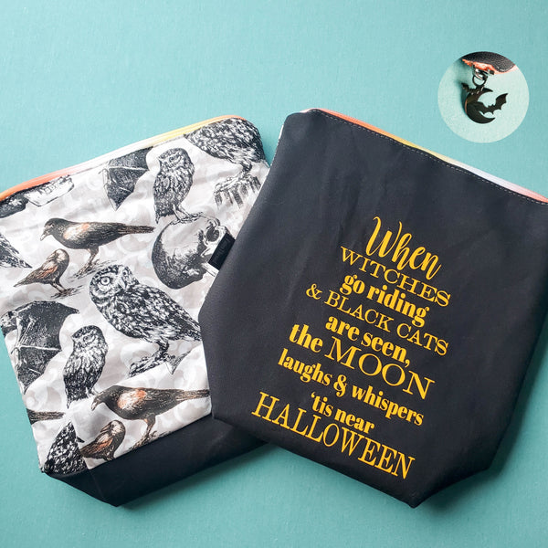 Tis Near Halloween, small zipper bag