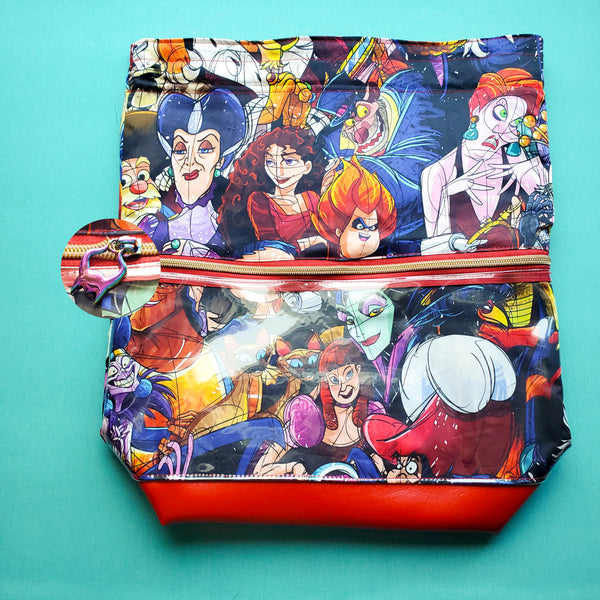 Villains, Deluxe Large Bag with Clear zipper pocket