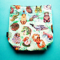 Whimsical Wildlife, small project bag