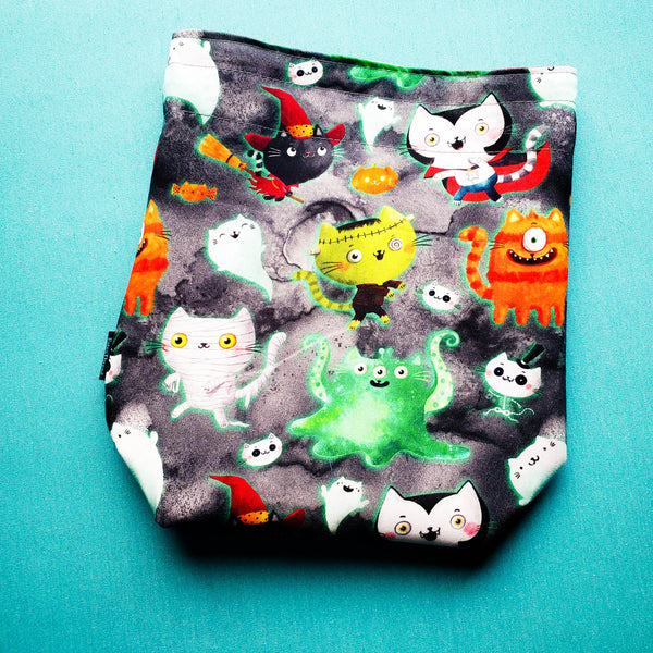 Monster Kitties, Cat, small project bag
