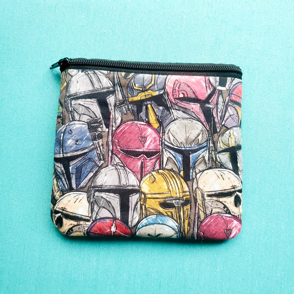Stacked Helmets, zipper pouch