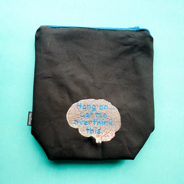 Hang on let me overthink this, small zipper bag