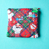 Christmas Hippo, Knitting Notion Pouch
