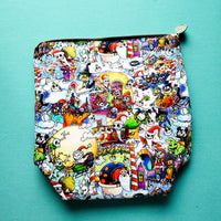 Christmas Sandy Claws, small zipper bag