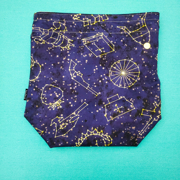Firefly Constellations, medium project bag