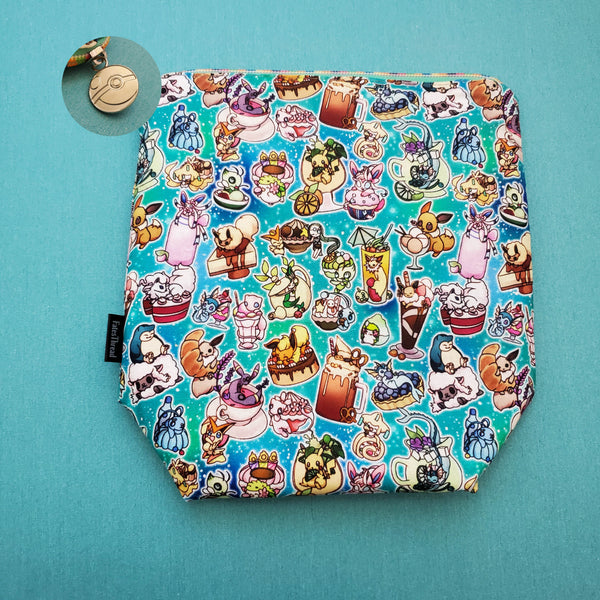 Gotta eat 'em all, anime, small zipper bag