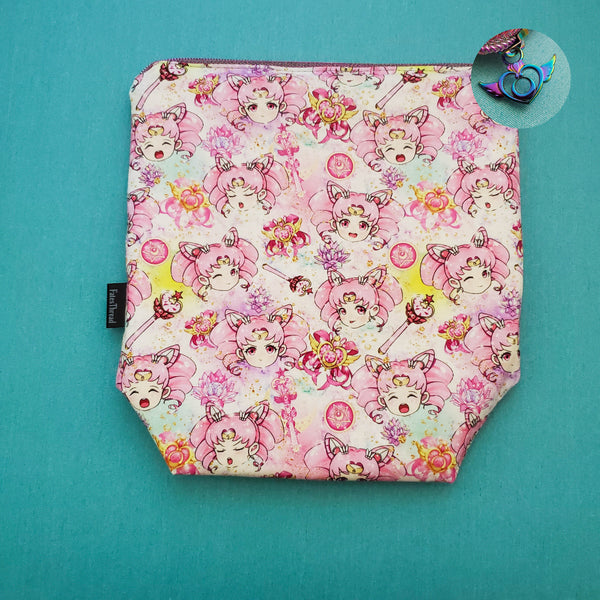 Chibi Moon, Sailor Soldier, anime, small zipper bag