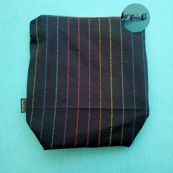Adult Pinstripe Rainbow, small zipper bag