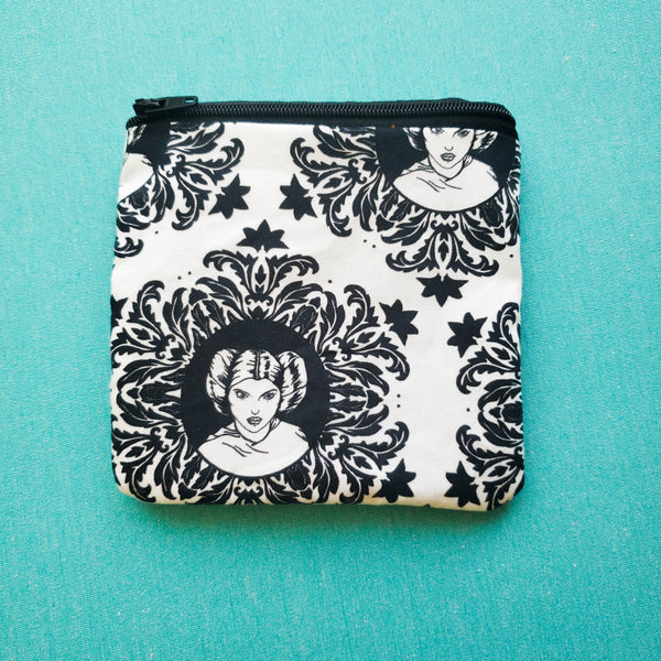 You're my only hope damask, rebel wars, zipper pouch