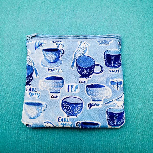 Teacups, Tea, Knitting Notion Pouch