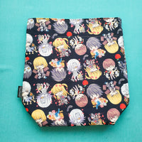 Notebook Anime Bag, small project bag