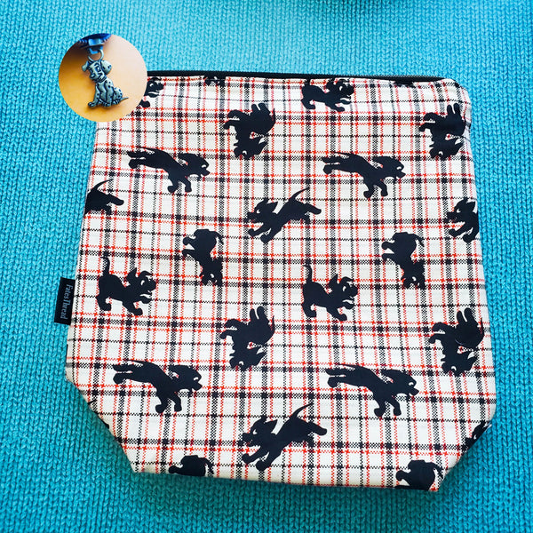 Plaid Dalmation, Small zipper Bag