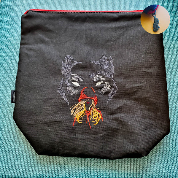Red Riding Hood, Wolf, medium project bag