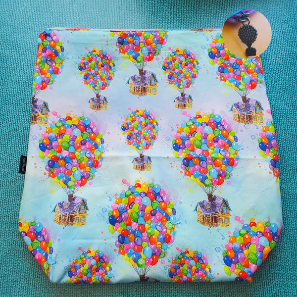 Balloon House, large zipper bag