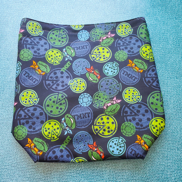 Pizza TMNT, Turtle, medium project bag