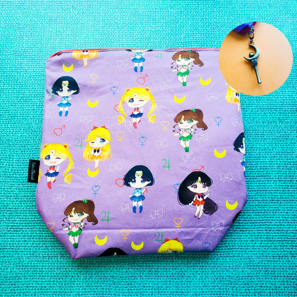 Sailor Chibi, Small Zipper Project Bag