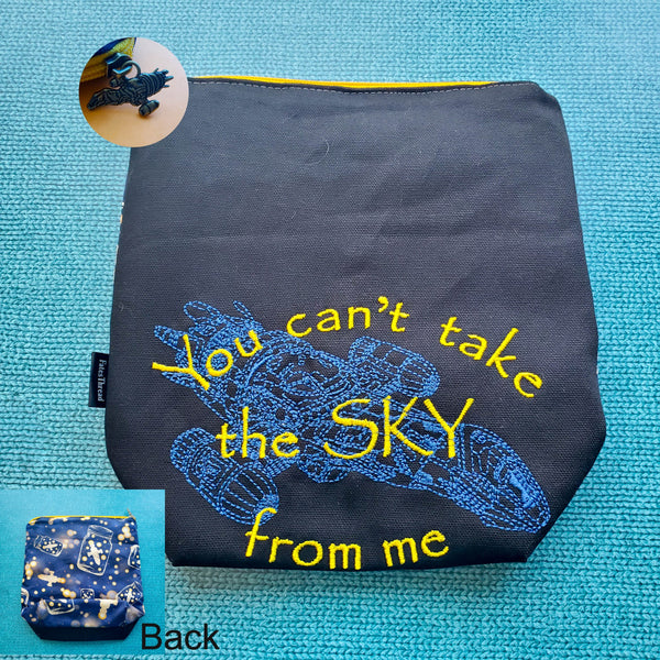 You can't take the sky, small zipper bag