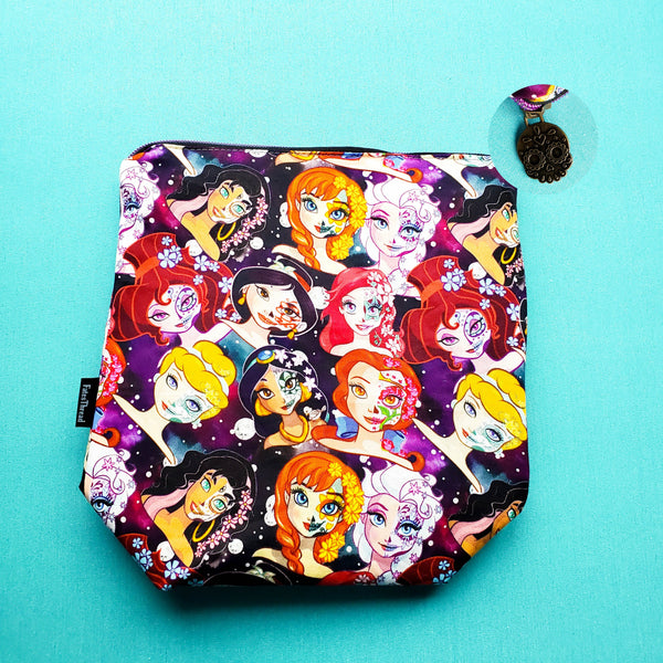 Sugar Skull Princess, small zipper bag