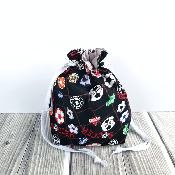Clearance Knitting Project Bag, Soccer bag, Soccer mom