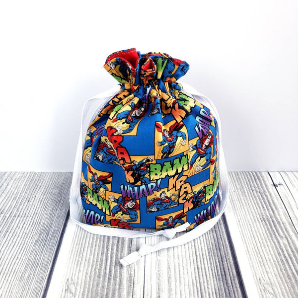 Clearance Knitting Project Bag, small Drawstring Bag, project bag