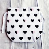 Project bag, Knitting Project Bag, Heart bag