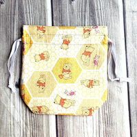 Bear bag, knitting Project Bag, Cartoon bag