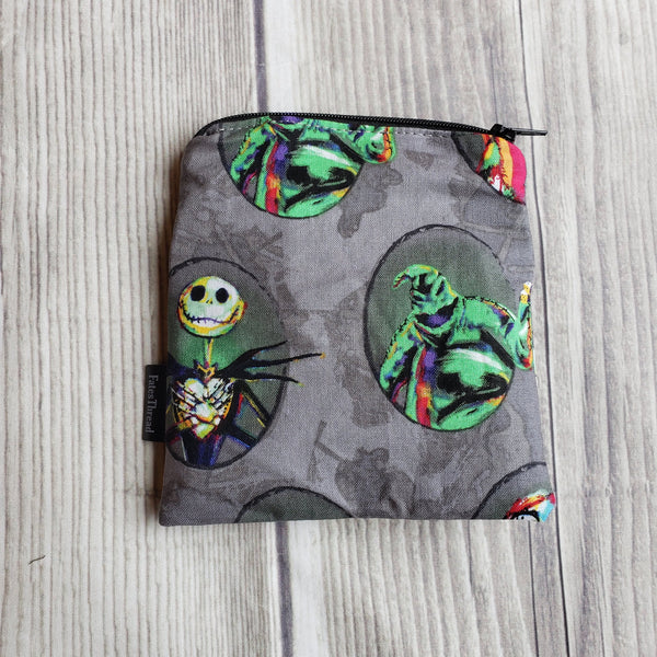 Halloween bag, Notion Pouch, zipper pouch