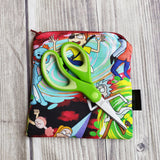 Cartoon Pouch, Notion pouch,  geeky coin purse