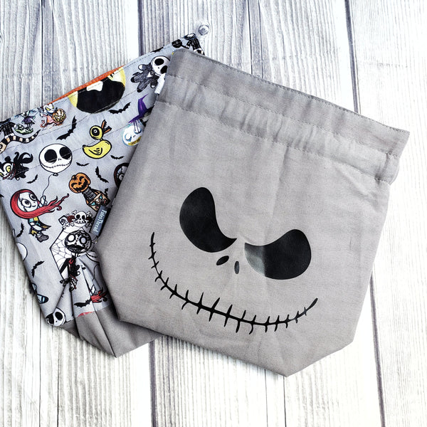 Halloween Project bag, Halloween knitting, Knitting Project Bag