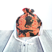 Knitting Project Bag, More than fire, Dragon bag