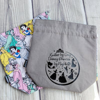 Princess project bag, Knitting Project Bag, Project bag