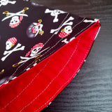 Pirate bag, jolly roger project bag,  Sock Knitting Project Bag