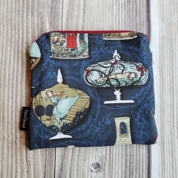 Clearance Fairy Tale Pouch, Notion pouch,  geeky coin purse