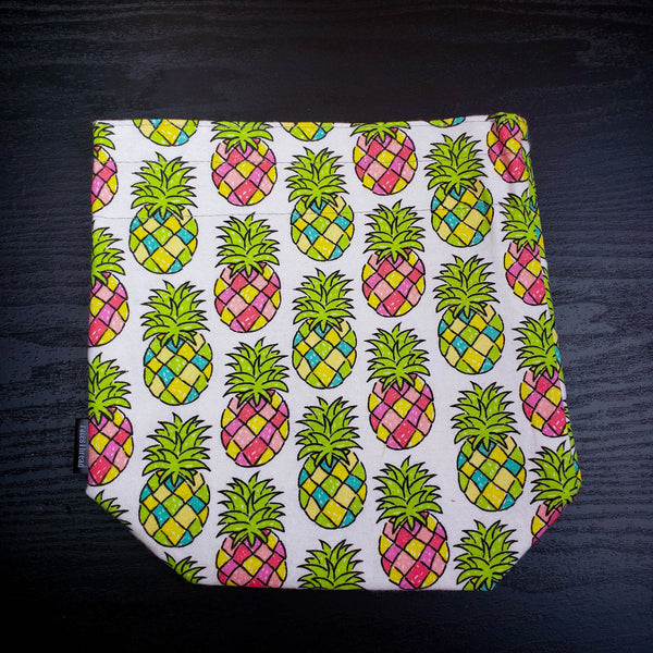 Clearance Pineapple bag, drawstring project bag, Knitting Project Bag