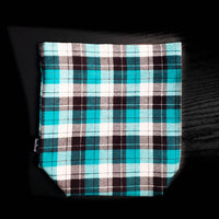 Blue and white , plaid project bag, Knitting Project Bag