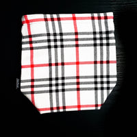 White and red plaid project bag, Knitting Project Bag, plaid bag