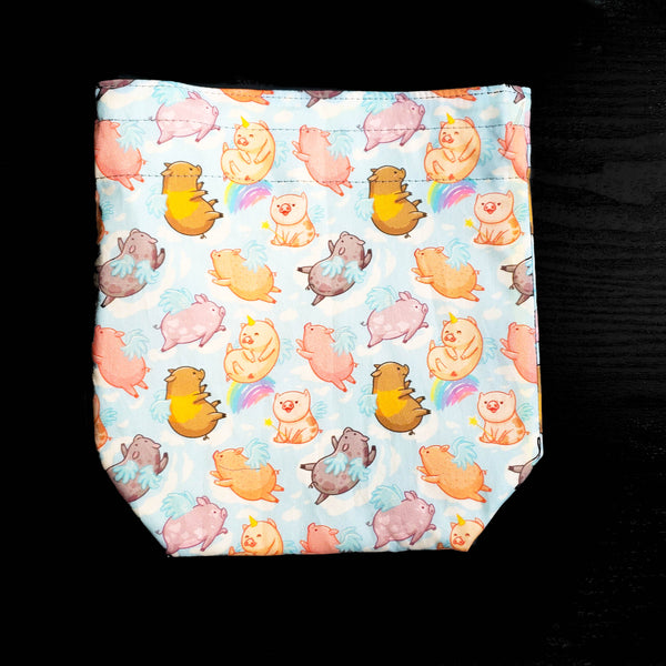 When Pigs fly, Project bag, Knitting bag