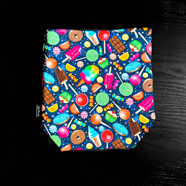 Ice Cream project bag, knitting project bag, project