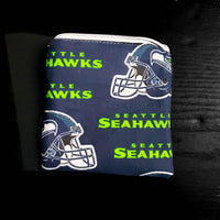 Football Pouch, Notion pouch,  seattle coin purse