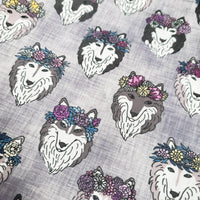 Huskies Project bag, Two at a time, Knitting bag