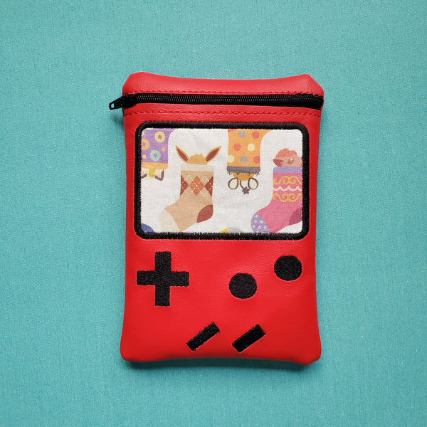 Video Game Notion Pouch, crochet hook case, zipper pouch