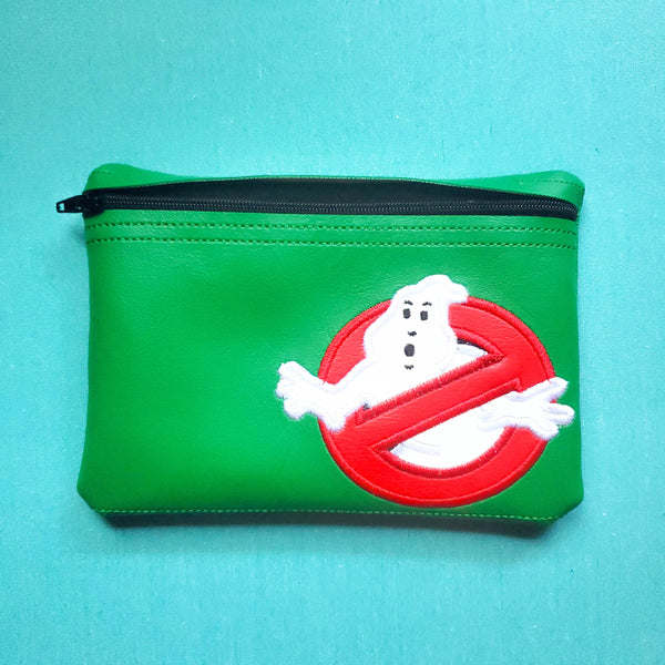 Ghost Notion Pouch, crochet hook case, zipper pouch