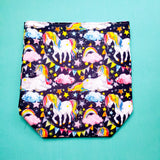 Unicorn Project bag, Knitting Project Bag, Drawstring Bag