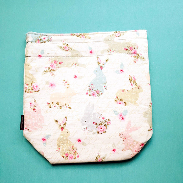 Knitting Project Bag, Bunny bag, Rabbit bag