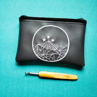 Shot first Notion Pouch, crochet hook case, zipper pouch