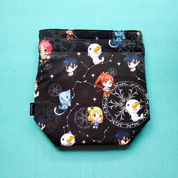 Fairy Anime bag, Two at a time bag,  Knitting Project Bag