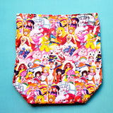 Girl Power bag, Project bag, shawl Knitting