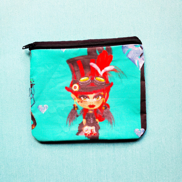 Dragon lady Knitting Notion Pouch, zipper pouch, coin purse