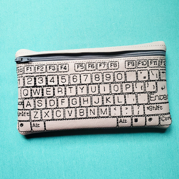 Keyboard Notion Pouch, crochet hook case, zipper pouch