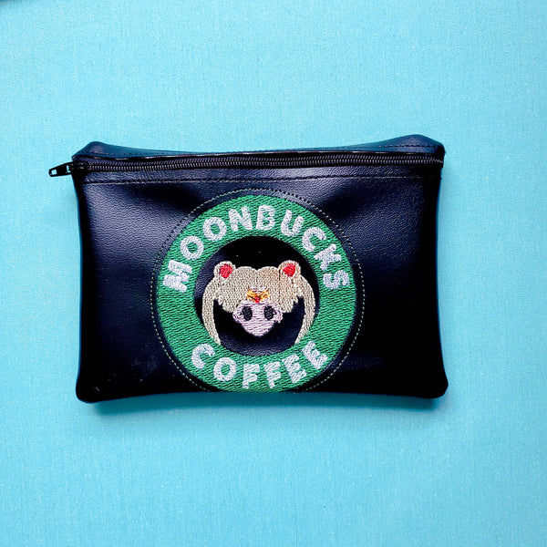 Moonbucks coffee Notion Pouch, crochet hook case, zipper pouch